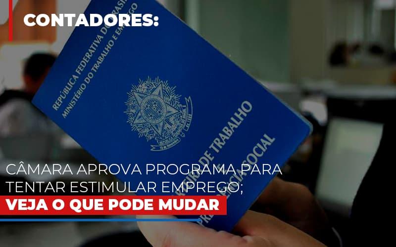 Camara Aprova Programa Para Tentar Estimular Emprego Veja O Que Pode Mudar - Contabilidade Em Santo André | Costa Menezes Contábil